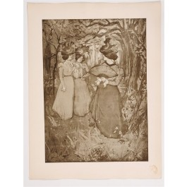 """Original French Litho ONLY L'Estampe Moderne N.16 """"Menuet d'automne"""" by ROBBE"""