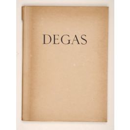 Original Vintage Limited Edition Lithographs Book E. Degas Les Monotypes 1948
