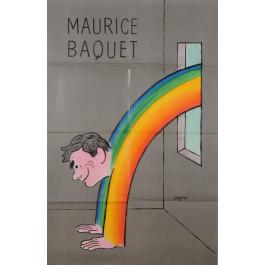 "Original Vintage French Poster ""Maurice Baquet"" by Savignac 1983"