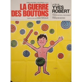 "Original Vintage French Movie Poster on Paper - ""La Guerre des Boutons"" by Savignac 1961"