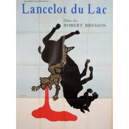"Original Vintage French Poster ""Lancelot du Lac"" by Savignac 1974"