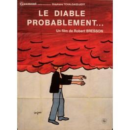 "Original Vintage French Movie Poster ""Le Diable Probablement"" by Savignac 1976"