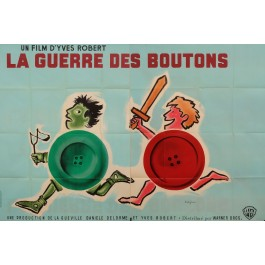 "Original Vintage French Movie Poster ""La Guerre des Boutons"" by Savignac 1961"