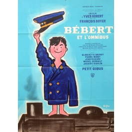 "Original Vintage French Movie Poster ""Bebert et l'Omnibus"" by Savignac 1963"