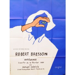 "Original Vintage French Poster ""Robert Bresson"" Film by Savignac 1989"