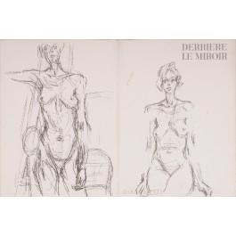 """""""Derriere le Miroir"""" (DLM) no. 127 (1961) incl. 14 Original Lithos by A. Giacometti"""
