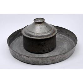 Antique Set Iraqi Frying Pan Cooking Pot Hand Hammered Tin
