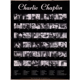 Poster Homage to Charlie Chaplin Movies 1889-1989.