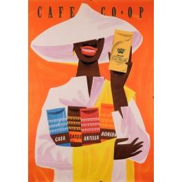 Original Vintage Swiss Poster for Cafe CO OP
