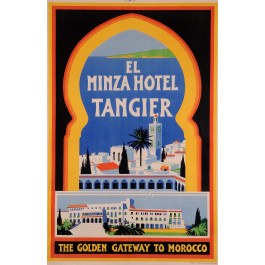 """Original Vintage French Poster for """"Hotel Minza Tangier"""""""