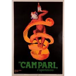 """Original Vintage Italian Poster for """"CAMPARI"""" by L. Cappiello 50's 2ND EDITION"""