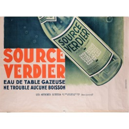 "Original Vintage French Poster for ""Source Verdier""-Lower Half Poster"