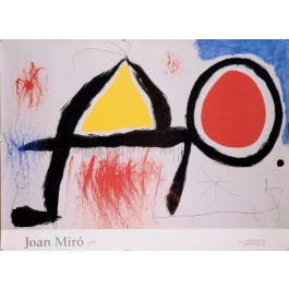 Original Vintage French Lithograph Poster for Joan Miro
