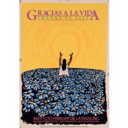 """Original Vintage American Poster for  """"Gracias a la Vida"""""""