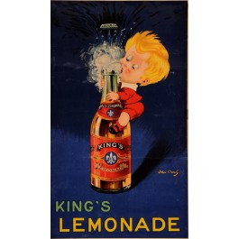 Original Vintage French Poster for King's Lemonade