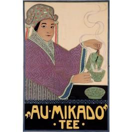 Original Vintage German Poster for Au Mikado Tee by Fischinger
