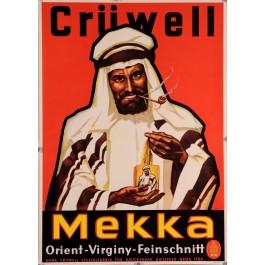 "Original Vintage German Poster for Tobacco ""Cruwell Mekka"""