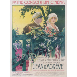 """Authentic Vintage Old Spy Movie Poster """"Pathe"""" 1924"""