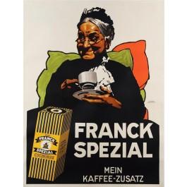 "Original Vintage German Cafe Poster ""Franck Spezial"" by Ludwig Hohlwein 1929"