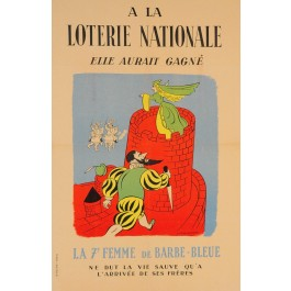"French Advertising Poster ""Loterie Nationale"""