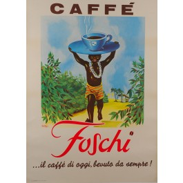 "Original Vintage French Advertising Coffee ""Caffé Foschi"" by Rusa"