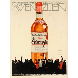 Original Vintage German Poster advertising Kuenzlen by Ludwig Hohlwein ca. 1910