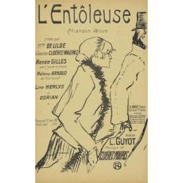 Vintage Original French Lithograph Poster - L'ENTOLEUSE - Toulouse Lautrec