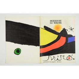"""""""Derriere le Miroir"""" (DLM) no. 193/194 (1971) incl. 2 Original Lithos by J. Miro"""