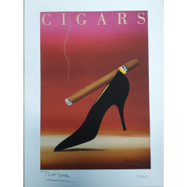"""Limited Ed. Hand Signed Print """"CIGARS"""" by Razzia 151/995"""