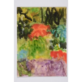 Original Watercolor on Paper Abstract Landscape by Robert Harms