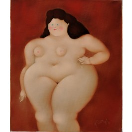 """Original Signed Oil on Canvas Painting """"Naked Woman"""" by Harry Guttman"""
