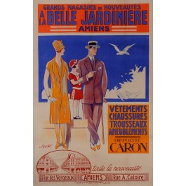 Vintage French Poster Advertising Grand Magazine in Amiens