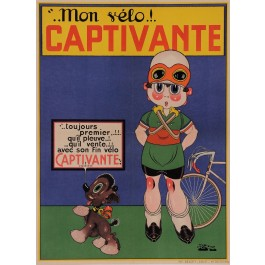 "Original Vintage French Poster for Transport Bicycle ""Captivante"" France"