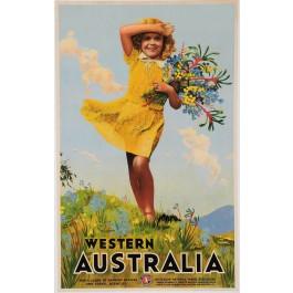 Original vintage Australian travel poster for Western Australia