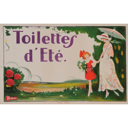 "Original Vintage French Poster for ""Toilettes d'Ete"""