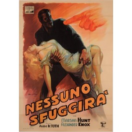 """Original Vintage French Movie Poster for """"Nessuno Sfuggira"""" by Balister"""