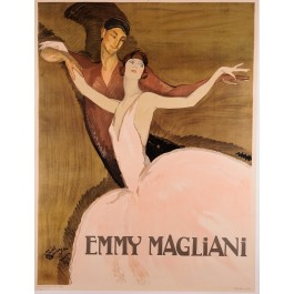Limited Edition Paper-REPRINT French Lithograph EMMY MAGLIANI