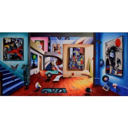 "Oil on canvas painting ""The Gallery Of The Masters"" by Ferjo."