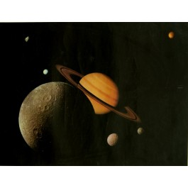 Poster for Saturn with Six Moons