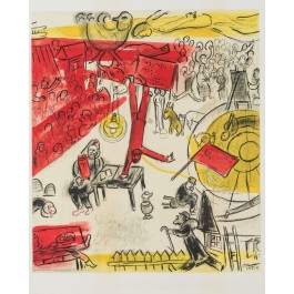 """Revolution""  Marc Chagall Lithograph Unsigned (1932-1950)  ,Signed in the Plate"