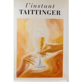 Original Vintage French Poster for L'Instant Taittinger (Champagne Ad)