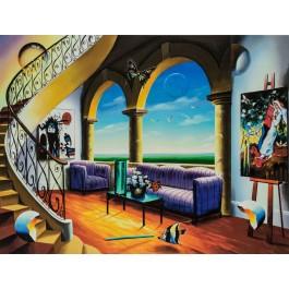 """Ferjo  """"The Purple Room"""" 2006 Hand Signed Giclee on Canvas by Ferjo"""
