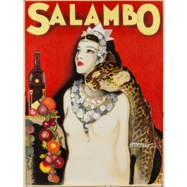 Salambo by Luciano Achille Mauzan A later Print Sold AS Is