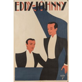 REPRINT Poster  EDDY and JOHNNY