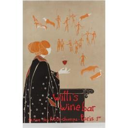 "Original Lithograph Poster ""Willi's Wine Bar"""
