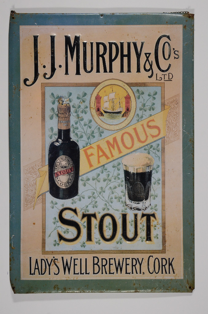 JJ Murphy & Co Famous Stout Embossed Steel Sign - Hanging Ad