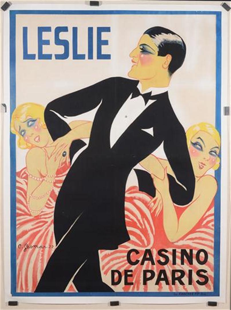 """French Poster by Gesmar  """"Leslie Casino de Paris"""" 1926"""