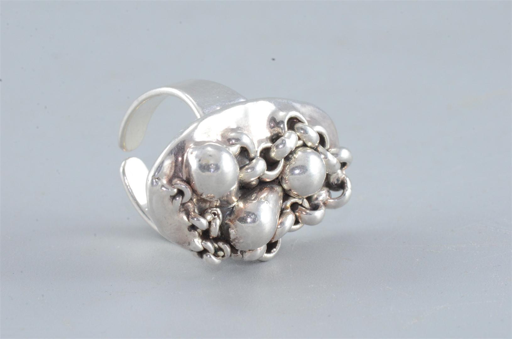 Artisan Sterling 925 Israeli Silver Re-sizable Ethnic Ring