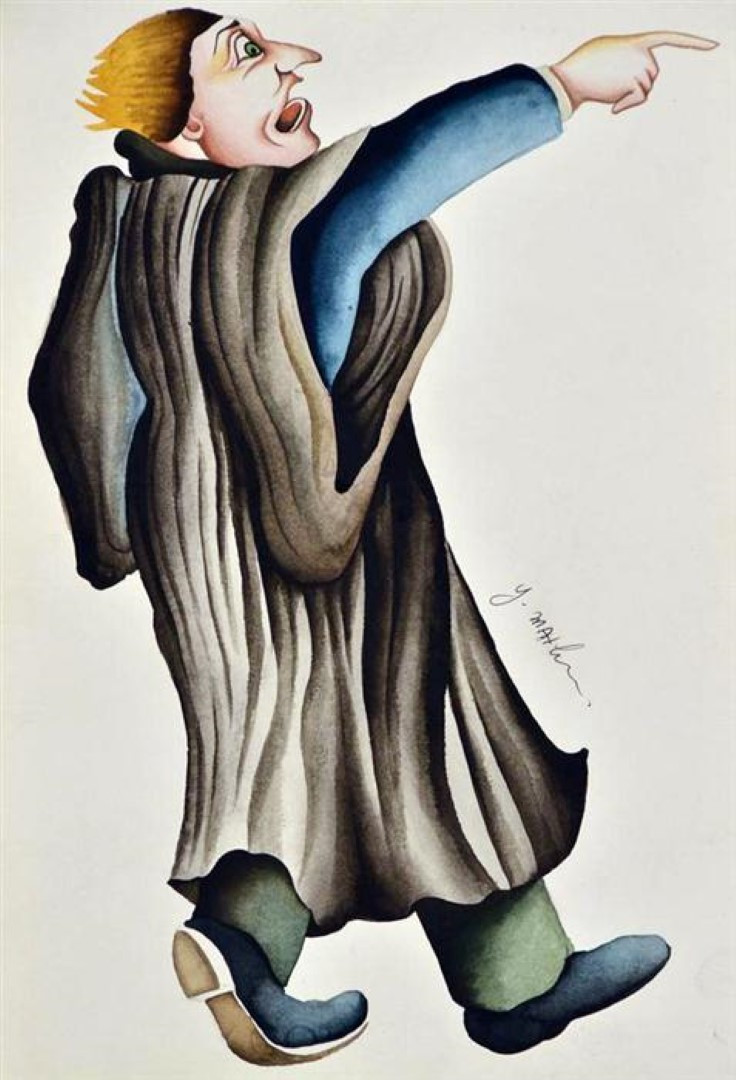 "Original Israeli Art Signed Painting ""THE ADVOCATE"" Series - Yuval Mahler"