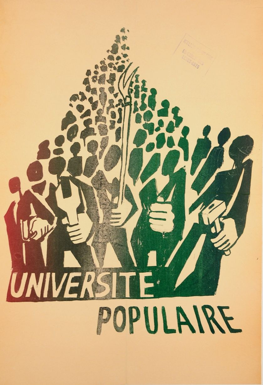 """Original Vintage French Poster """"Universite Populaire"""" MAY 1968 Protests"""